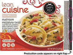 RECALLED - Lean Cuisine Ravioli