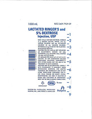 RECALLED - Lactated Ringers and 5% Dextrose Injection,USP