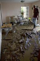 Esta vivienda localizada en la comunidad de Las Galarzas, Juncos, fue destruida completamente por un deslizamiento de tierra ocasionado por las lluvias del Huracán Irene