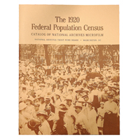 1920 Federal Population Census:  Catalog of National Archives Microfilm