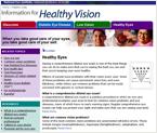 Healthy Eyes Website