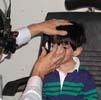Child taking an eye exam