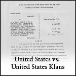 U.S. vs. U.S. Klans