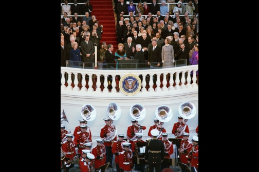 Richard Nixon Takes the Oath of Office, Administered by Chief Justice Warren Burger