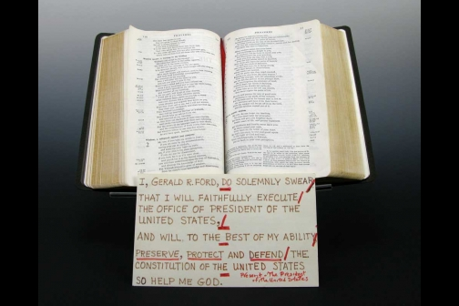 This Bible was Used to Swear-In Gerald R. Ford as Vice President and Later as President