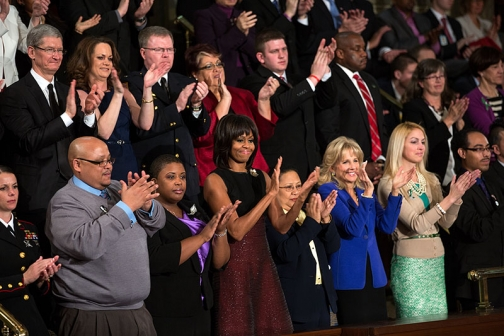 First Lady Michelle Obama, Dr. Jill Biden, and Guests