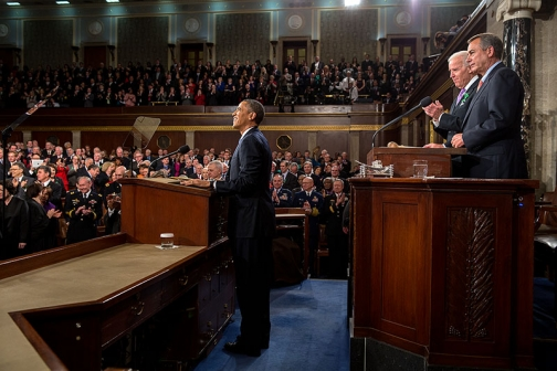 President Obama Acknowledges Applause