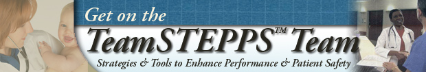 Get on the TeamSTEPPS team banner image