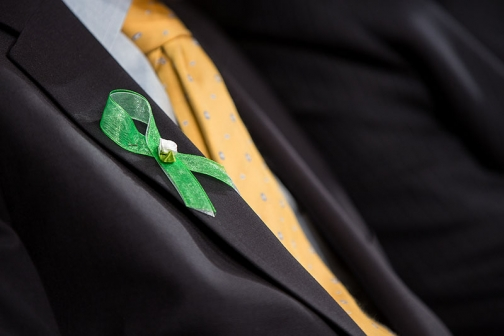 Green Ribbons Worn in Honor of the Victims of the Newton Shootings