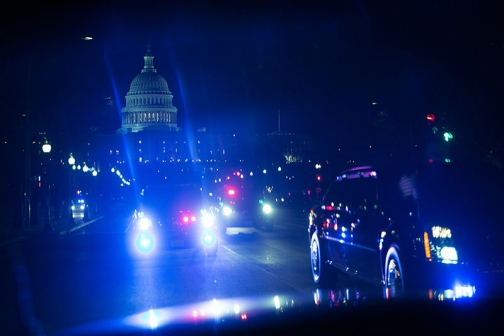 Motorcade Back to the White House