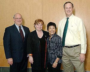 NEI Director, Paul A. Sieving, M.D., Ph.D.; M. Christine McGahan, Ph.D.; Mae Gordon, Ph.D.; Val C. Sheffield, M.D., Ph.D.