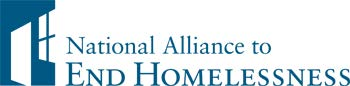 National Alliance to End Homelessness logo, showing a doorway and a window of a house