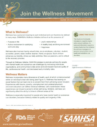 SAMHSA's Wellness Initiative: Join the Wellness Movement: Guide on Community Activation