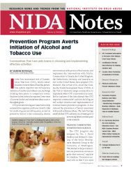 Picture of NIDA Notes Vol. 23, No. 4: Prevention Program Alerts Initiation of Alcohol and Tobacco Use