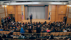 Secretary Kerry Engages Students at a Foreign Policy Classroom