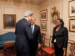 Secretary Kerry Meets With Massachusetts Governor Patrick