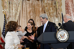 Secretary Kerry is Congratulated by his Family