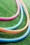 Photograph of several hula hoops