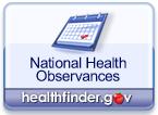 National Health Observances on healthfinder.gov