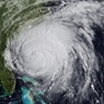 Arial view of a hurricane