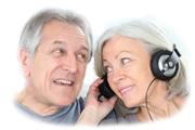 couple listening to media