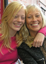 Photo of a mother and daughter.