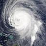 Satellite photo of hurricane