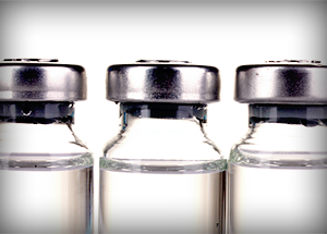Three viles of prescription drugs