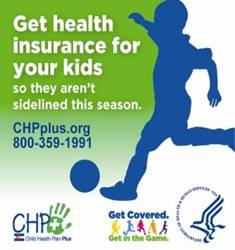 Colorado Get Covered. Get in the Game. Campaign Badge. Click to go to the CHPplus.org website.