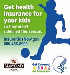 Maryland Get Covered. Get in the Game. Campaign Badge. Click to go to the Maryland Medical Programs website.