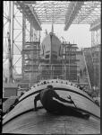 man working on U.S. submarine