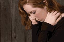 una mujer sentirse deprimido