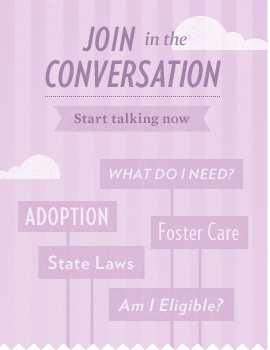 Join the conversation in AdoptUSKids online communities to connect and share with other families and child welfare professionals.