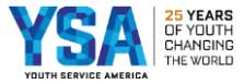 Youth Service America: 25 Years of Youth Changing the World.
