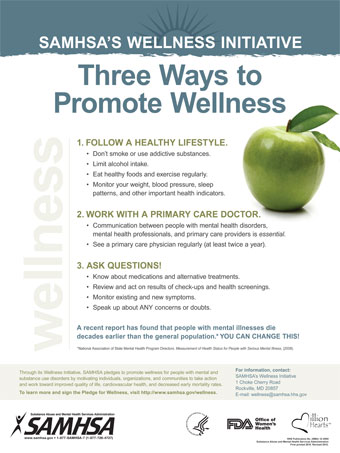 SAMHSA's Wellness Initiative: Three Ways to Promote Wellness
