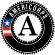 Americorps logo, which shows an A inside a circle, with the word Americorps.