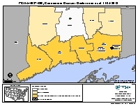 Map of declared counties for [Connecticut Hurricane Sandy (DR-4087)]