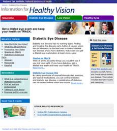 DED website screen capture