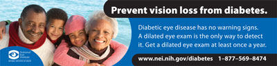 Prevent vision loss from diabetes