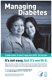 Managing Diabetes. It's not easy, but it's worth it.