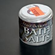 Tin of bath salts