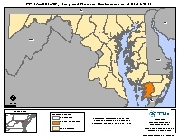 Map of declared counties for [Maryland Hurricane Sandy (DR-4091)]