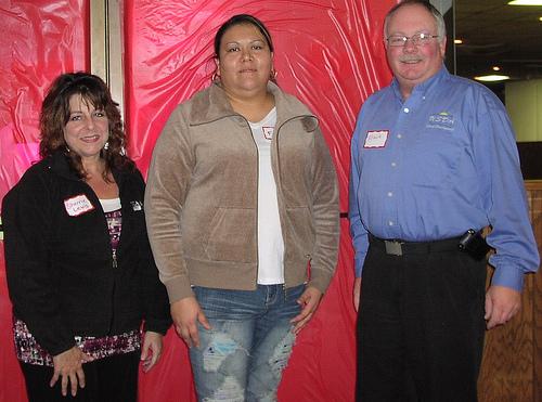 Attendees at the South Dakota Tribal Entrepreneurship Fair: left to right Rural Development Specialist Sherrie Lewis, Flo Hare - EDA Director for Yankton Sioux Tribe, and Rural Development Area Director Trace Davids. USDA photo.