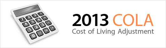 2013 Cost of Living Adjustment (COLA)