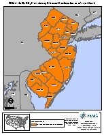 Map of declared counties for [New Jersey Hurricane Sandy (DR-4086)]