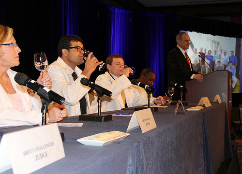 USDA Acting Administrator John Padalino (second from left)  along with panel of judges at Great American Water Taste Test. Photo courtesy of the National Rural Water Association. Used with permission.