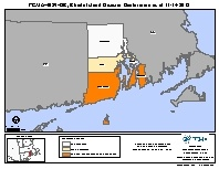 Map of declared counties for [Rhode Island Hurricane Sandy (DR-4089)]