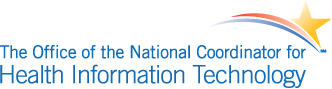 The Office of the National Coordinator for Health Information Technology logo.