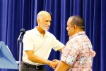 RMI Ambassador Charles Paul reunites with former government teacher at KHS