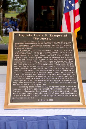 """Café Pacific was rededicated the """"Captain Louis S. Zamperini Dining Facility"""" Jan. 16."""